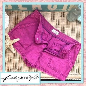 Free People Space Dyed Pink Cut Off Shorts 10